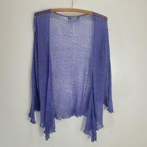 Frankly Scarlet Loose Knit Purple Cardy